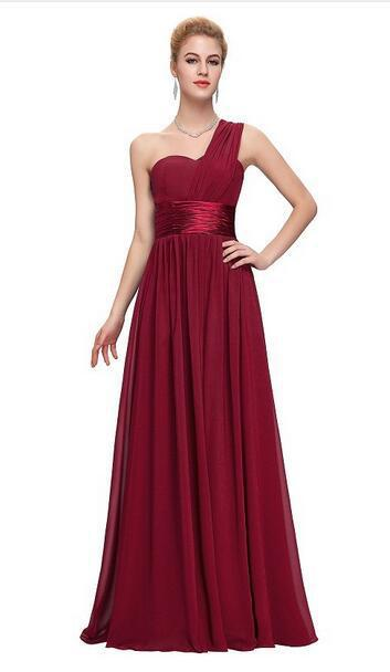 BH89 Formal One shoulder Long Bridesmaid Dresses