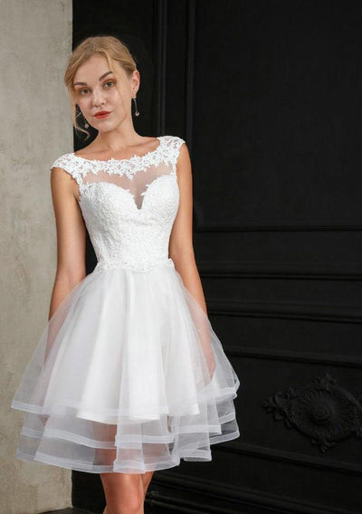 SS12 Elegant Ruffle Fluffy Bridal Dress