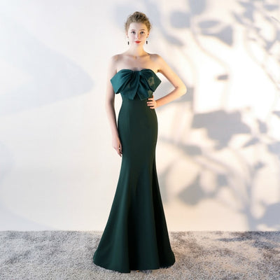 BH125 Bow Strapless Mermaid Bridesmaid Dresses(7 Colors)