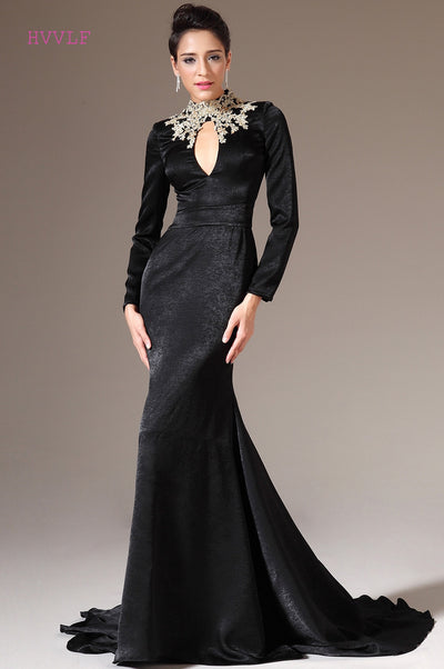 PP105 Plus Size Velvet Appliques Beaded Evening Gown