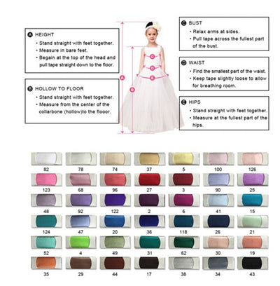 FG59 Luxury 3D Flowers Applique Puffy Tulle Princess Girl Dress