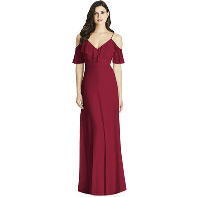 BH96 V Neck Backless Bridesmaid Dresses (3 Colors)