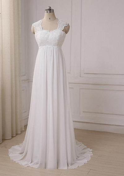 CW88 Real Photo cheap chiffon Beach Bridal dress