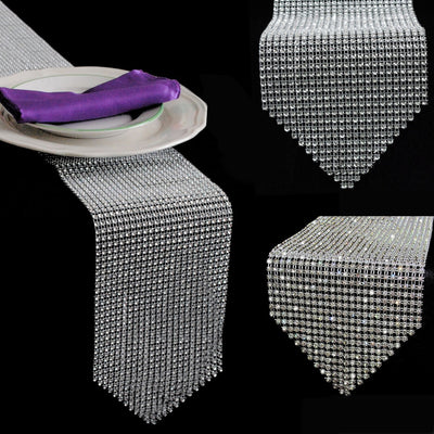 Diamond Rhinestone Table Runner for Wedding & Party table Decorations