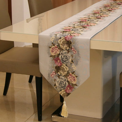 European Rose styles Table Runner for Wedding & Party Decor