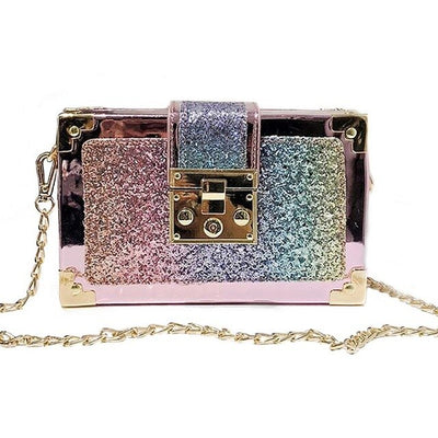 CB29 Korean Sequins Shoulder Clutch Bags (4 Colors)