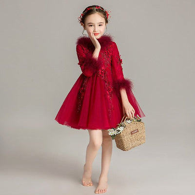 FG14 Sweet  flower girl dress