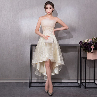 PP132 Short Front Long Back Prom Dresses(5 Colors)