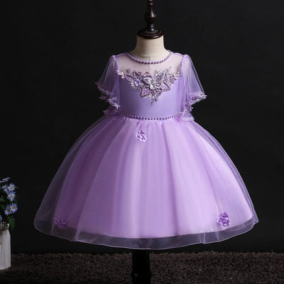 FG32 Princess tulle flower girl Dress(5 Colors)