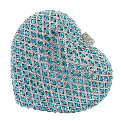 CB34 Heart-shaped Crystal Prom Clutch Bags (8 Colors )