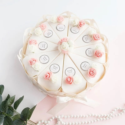 50pcs Sweet Butterfly  flower Cake Boxes( pink/ purple/ white )