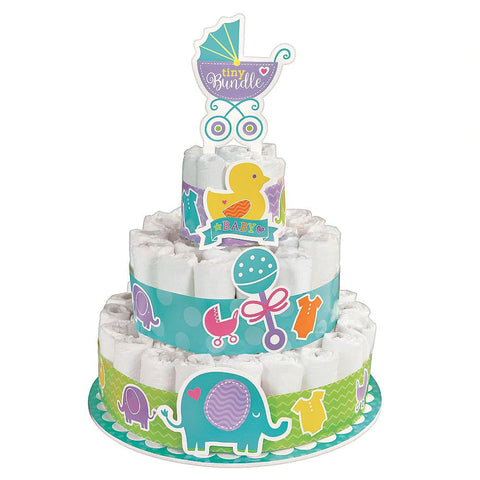 Diaper cake for new baby gift