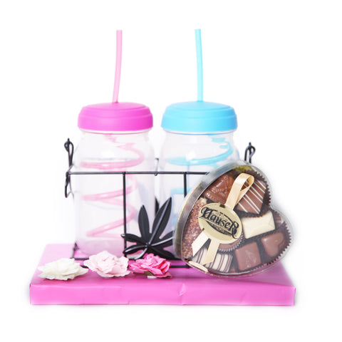 Adorable Straw Cup Set