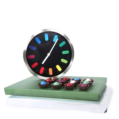 Colorful Clock and Chocolates
