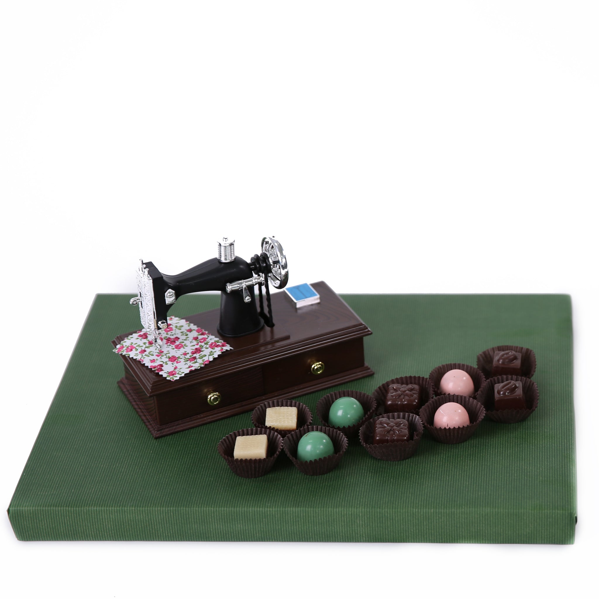 Sewing Machine Chocolate Arrangement