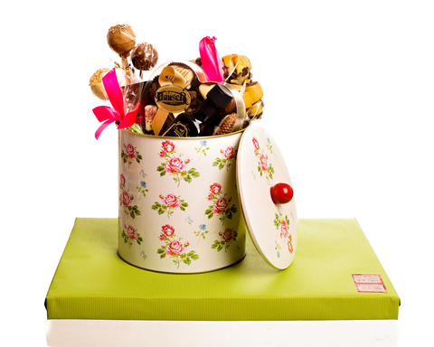 Floral Tin stuffed with Goodies