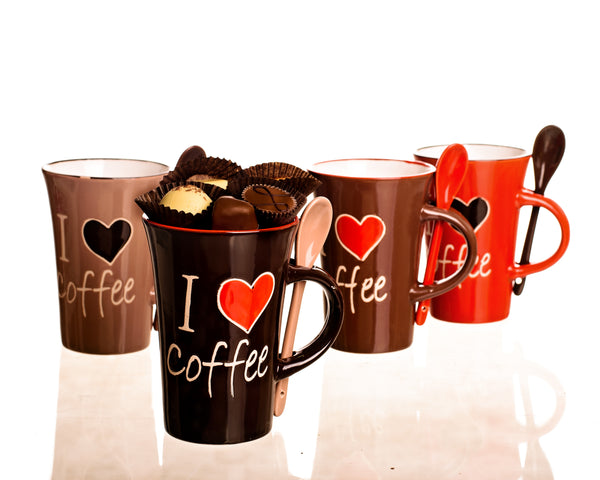 I love coffee mug with spoon