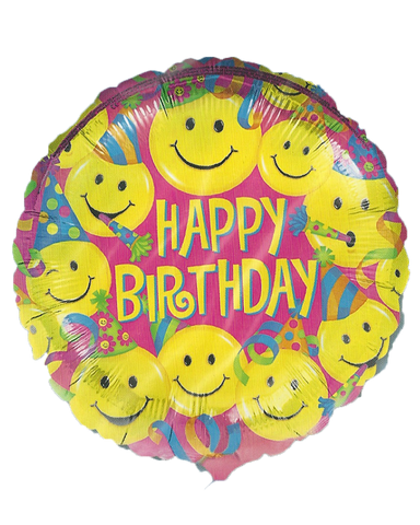 Happy Birthday Smiley Balloon