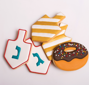 Chanuka themed cookies