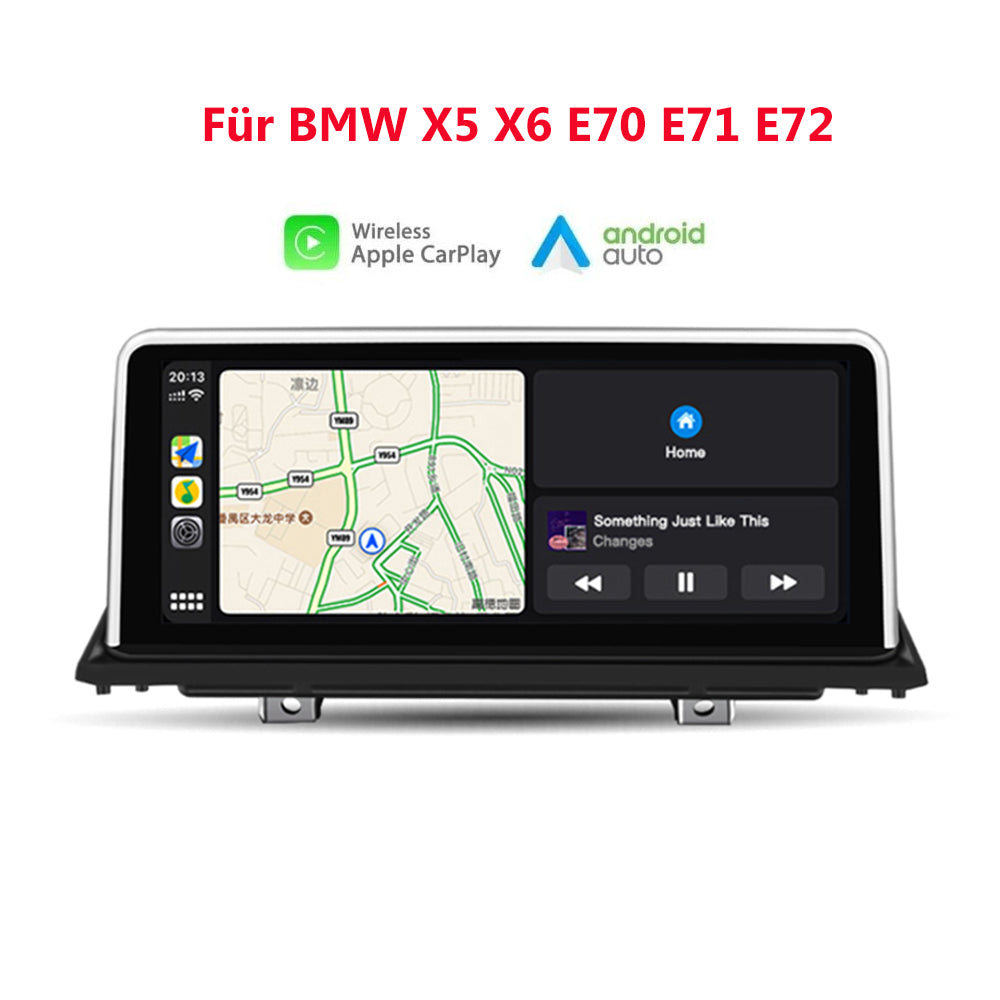 "10,25 ""kabelloses Apple CarPlay + Android Auto für BMW X5 X6 E70 E71 E72 CCC / CIC GPS-Navigation Head Unit Ohne Android System"