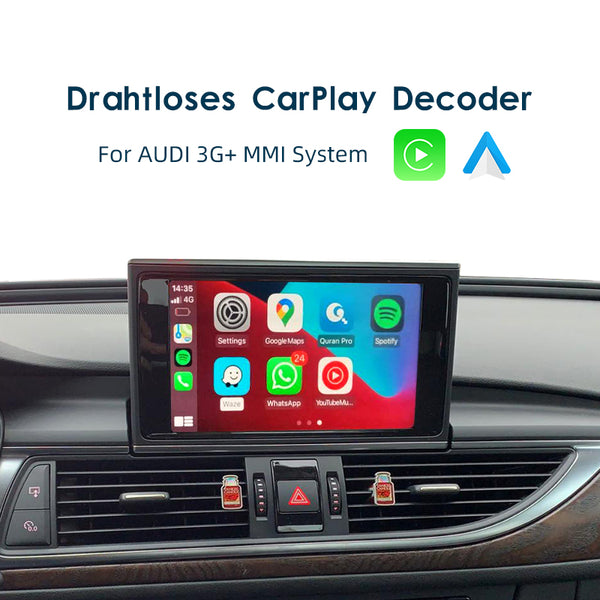 Drahtloses CarPlay für Audi A3 A4 A5 S5 A6 S6 A7 A8 Q3 Q5 Q7 MMI 3G + Multimedia-Schnittstelle CarPlay & Android Auto Retrofit Kit AirPlay Mirror Link - Ewaying DEUTSCHLAND