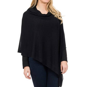 Top It Off - Elsa Bamboo Poncho- Metallic