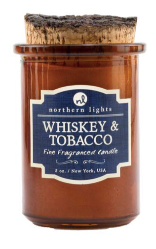 Northern Lights Spirt Jar Candle Whiskey & Tobacco