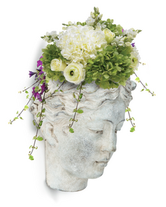 Female Grecian Head Wall Planter