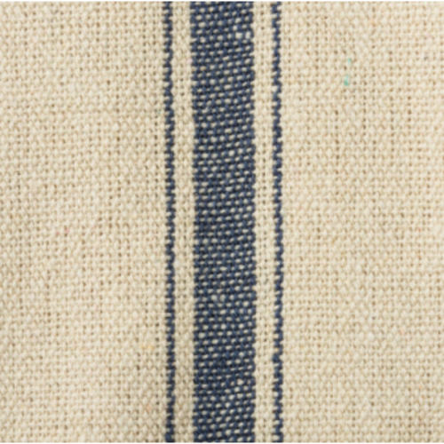 Blue French Stripe Grain Sack Fabric by the Yard