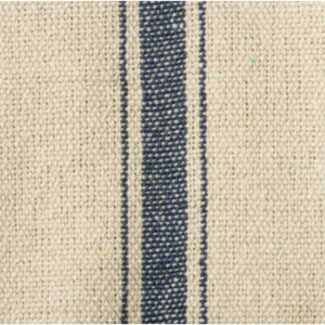 French Blue Grain Strip Fabric