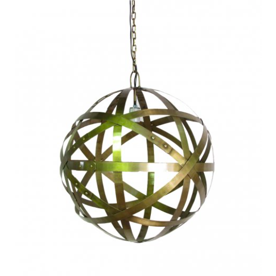 Brass Wine Barrel Stave Pendant Lighting