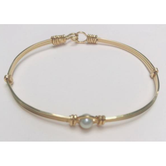 Custom Hand Crafted 14k Gold Filled Baby Bracelet
