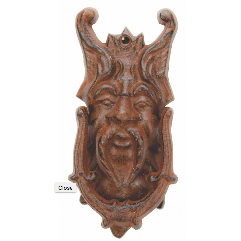 Cast Iron Greek Mythology Northwind Door Knocker