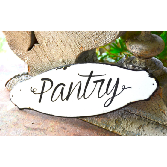 Reproduction French Pantry Sign