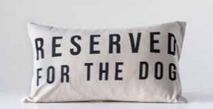 Linen Decorative Sofa Pillow Reserved for the Dog