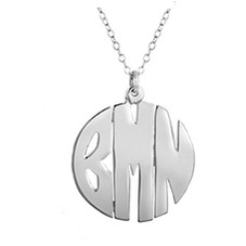 Handmade Custom Sterling Silver Monogramed Necklace