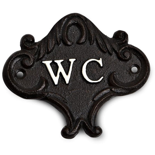 Cast Iron WC (Water Closet) Sign