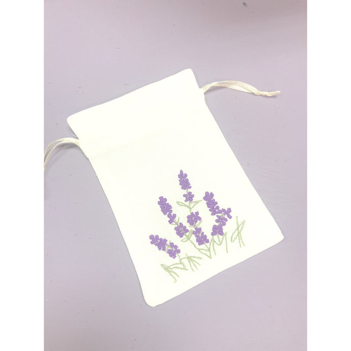 Hand made cotton embroidered lavender sachet bag