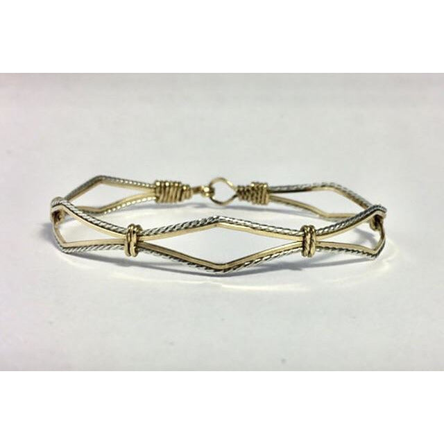 Custom Hand Crafted Sterling Silver & 14k Gold Filled Bracelet