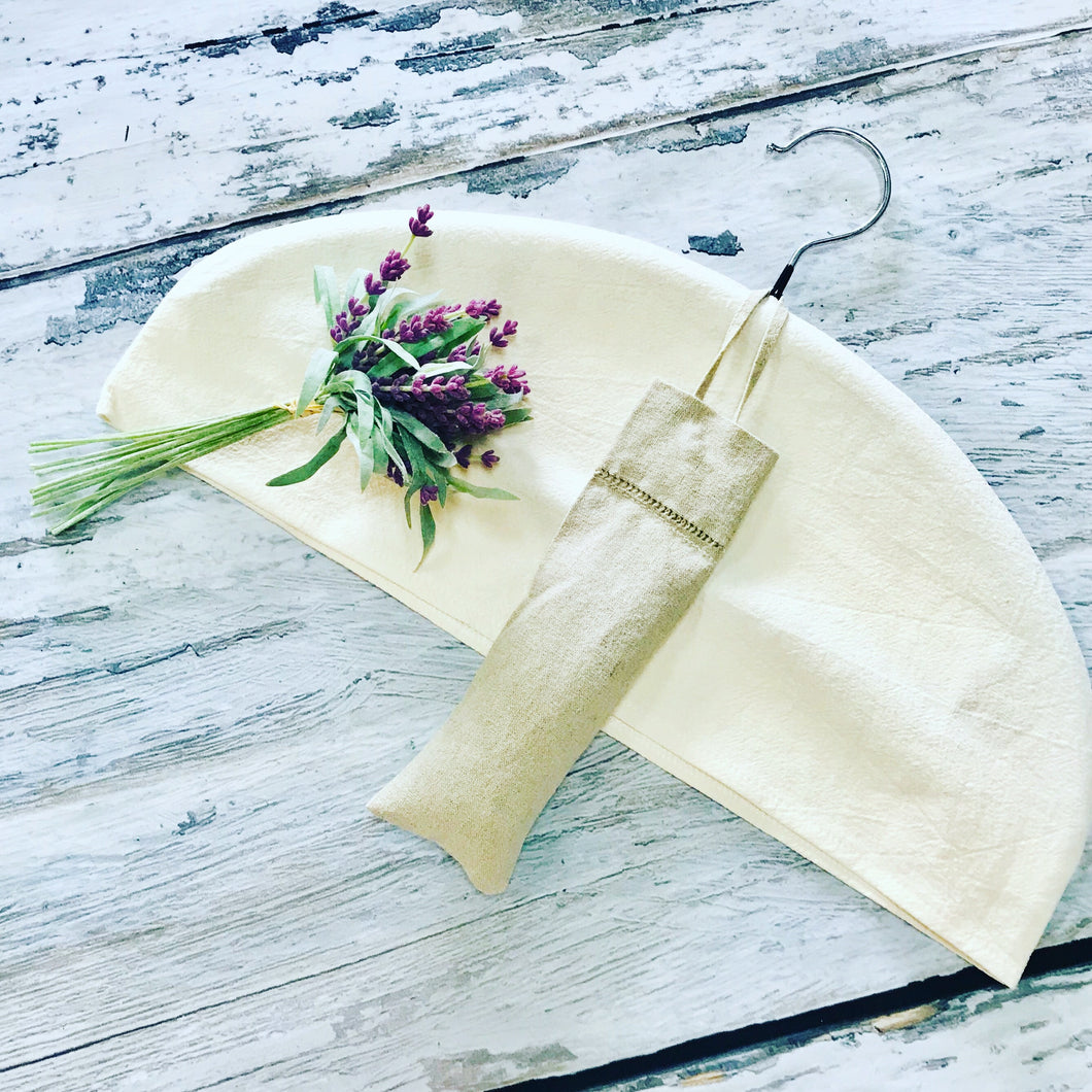 Hem Stitched Linen Sachet Filled with French Lavender