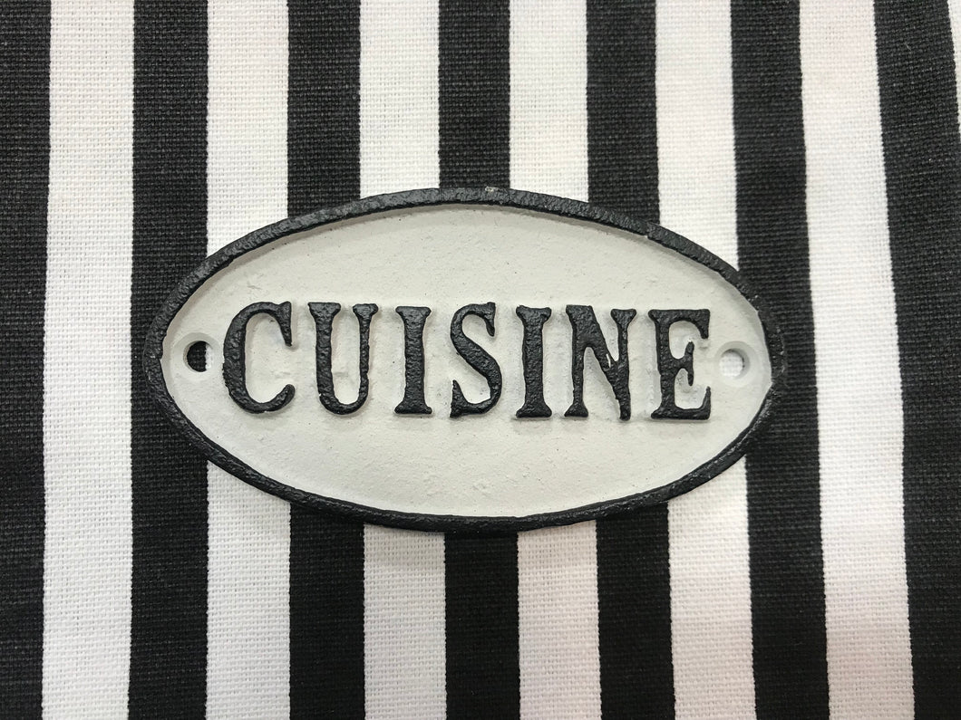 Cast Iron Cuisine Door Sign
