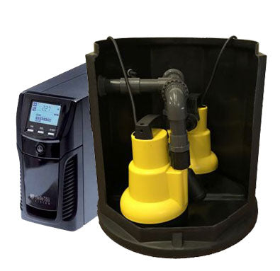 Cellar Sump Pump System + Battery Back-Up (SPD100 plus)