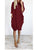 Solid Color Round Neck Long Sleeve Pocket Casual Loose Midi Dress