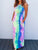 Tie-dye Printed Multicolor Ankle Length Dress