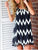 Plus size Sexy Spaghetti Straps Backless chevron Print Tassels Casual Mini Dress