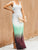 Pleated Floor-Length Sleeveless Gradient Casual Maxi Dress