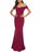 V-necked-Hot-Red-Banquet-Evening-Dress-Findalls