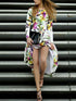 Floral Long Sleeve Maxi X-line Dress
