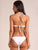 Solid Color Sexy Backless Ring Buckle Hollow Bikini