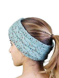 Stretch Winter Warm Cable Knit Fuzzy Lined Ear Warmer Headband
